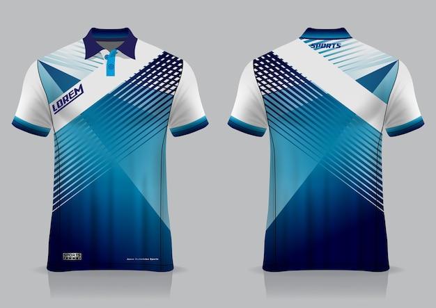 Футболка-поло спортивный дизайн, макет джерси для бадминтона для шаблона униформы