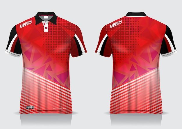 티셔츠 폴로 스포츠 디자인, 유니폼 템플릿 용 배드민턴 저지 모형
