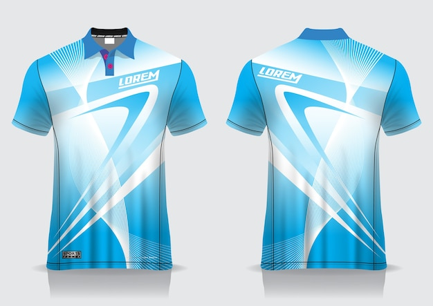 T-shirt polo sport design, badminton jersey mockup for uniform template