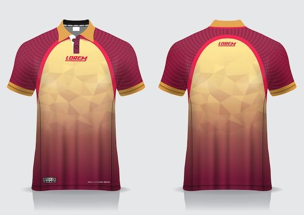 T-shirt polo sport design, badminton jersey mockup for uniform template