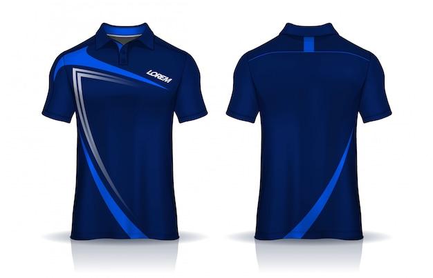 Tシャツポロテンプレートデザイン。均一な正面と背面。