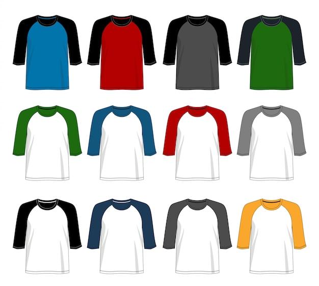 T shirt raglan 3/4 template