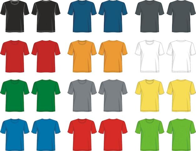 T shirt round neck template