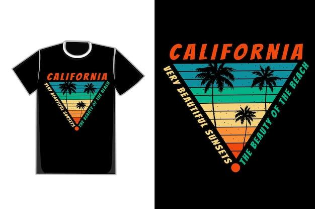 Tシャツシルエットビーチカリフォルニアレトロスタイル