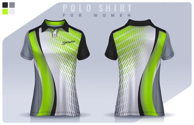 T-shirt sport design for women, soccer jersey  for football club.  polo uniform template.