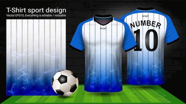 T-shirt sport mockup template