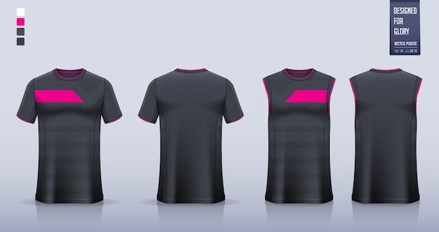 Футболка, дизайн шаблона спортивной рубашки для футбольной майки, футбольная форма. майка для баскетбольной майки или беговой майки.