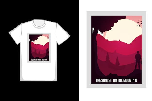 T-shirt  the sunset on the mountain