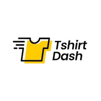 T 셔츠 티 대시 빠른 세탁 빠른 청소 디지털 로고 벡터 아이콘 그림