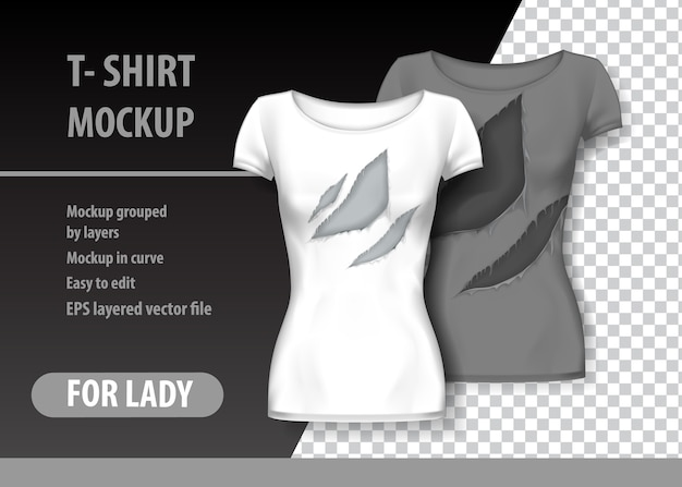 T-shirt template, fully editable