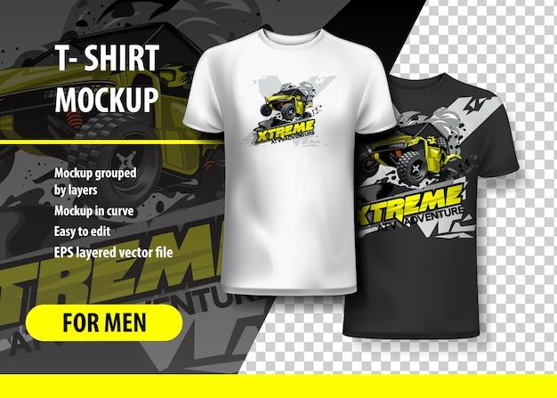 T-shirt template, fully editable