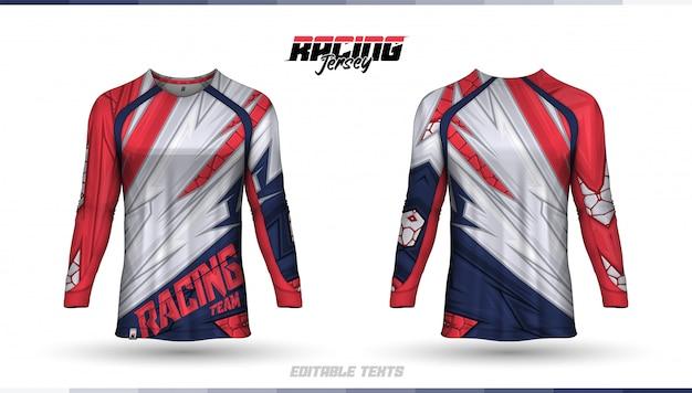 T-shirt template, racing jersey design, soccer jersey