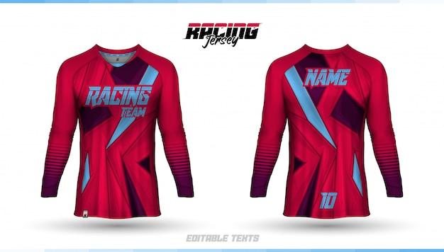 Шаблон футболки, дизайн гоночной майки, футбольная майка