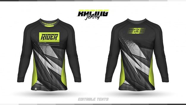 Шаблон футболки, дизайн гоночной майки, футбольная майка Premium векторы