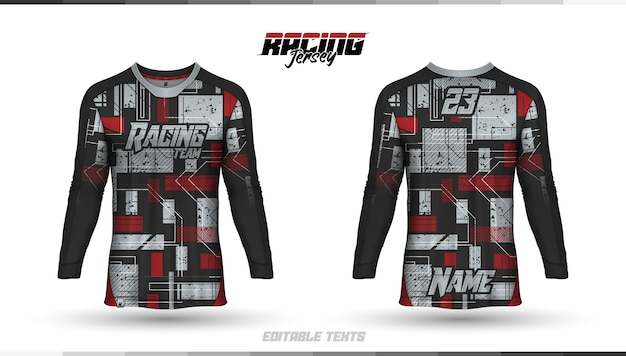T-shirt template, racing jersey design, soccer jersey