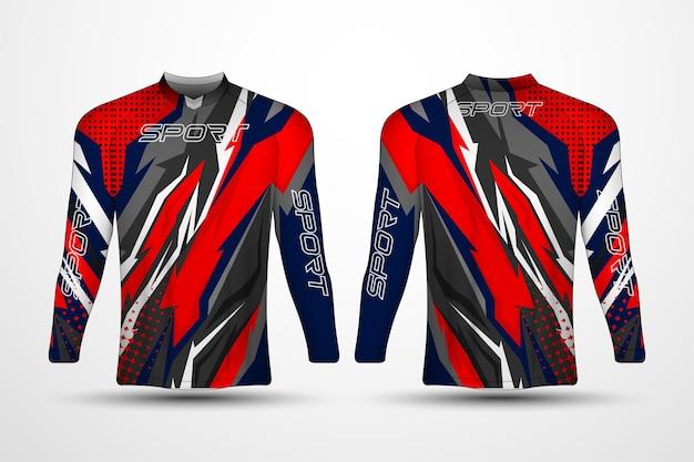 T-shirt template, racing sport jersey