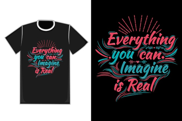Tシャツのタイトル想像できるものはすべて本物の色青と赤