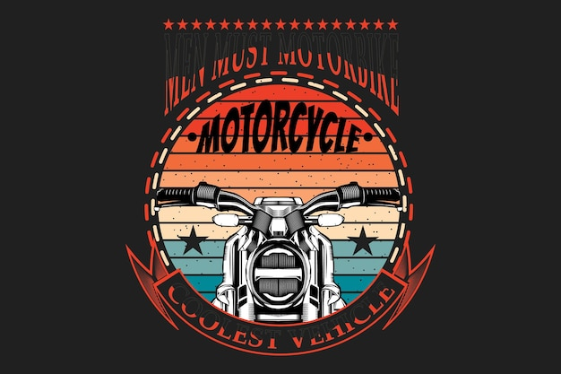 Футболка типография мотоцикл силуэт ретро стиль