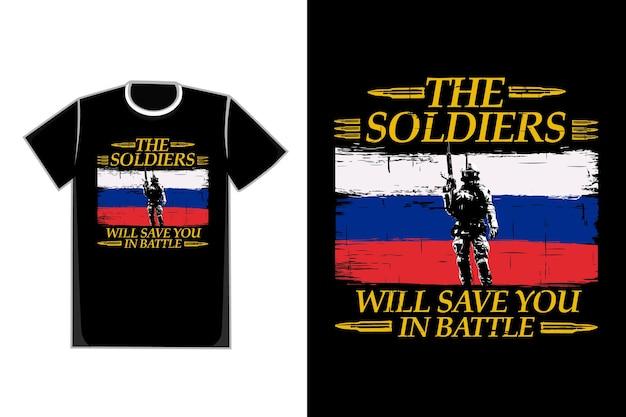 Футболка типография солдат силуэт стиль винтаж