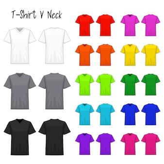 T-shirt v neck color collection set