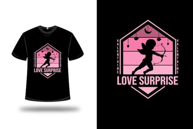 Футболка валентина любовь сюрприз цвет розовый градиент
