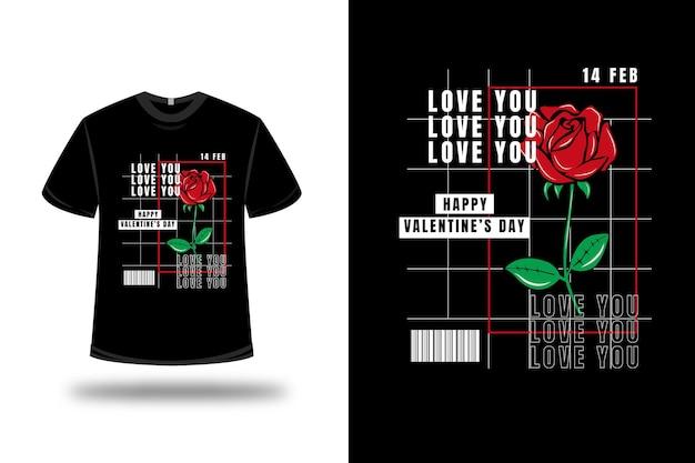 T shirt valentines rose
