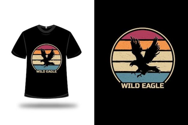 레드 오렌지와 그린에 티셔츠 야생 독수리