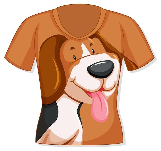 かわいい犬柄のtシャツ