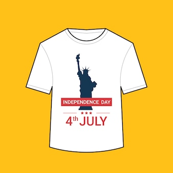 T-shirt with liberty statue american independence day shirts celebration 4th of july concept illustration