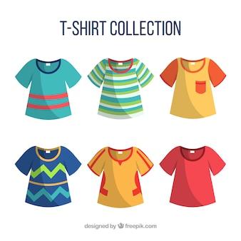 Коллекция футболок разных цветов