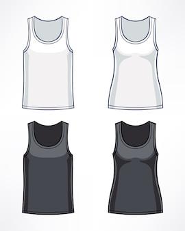 白と黒の色の男性と女性のためのtシャツ