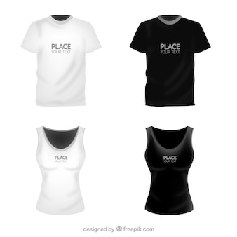 T shirts template for woman and man