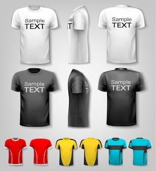 샘플 텍스트 공간이 있는 티셔츠. 벡터.