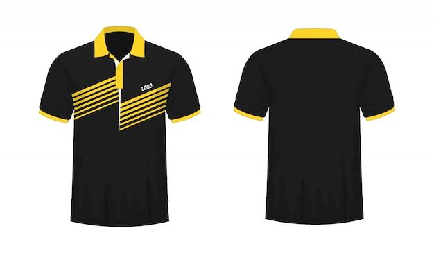 Tシャツポロ黄色と黒のtイラスト