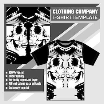 頭蓋骨のtシャツデザイン