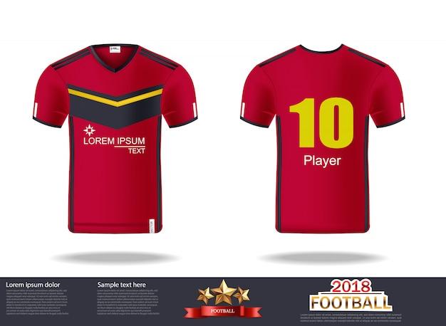 サッカーのtシャツのデザインテンプレート