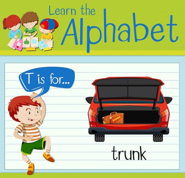 短歌アルファベットtはトランク用です