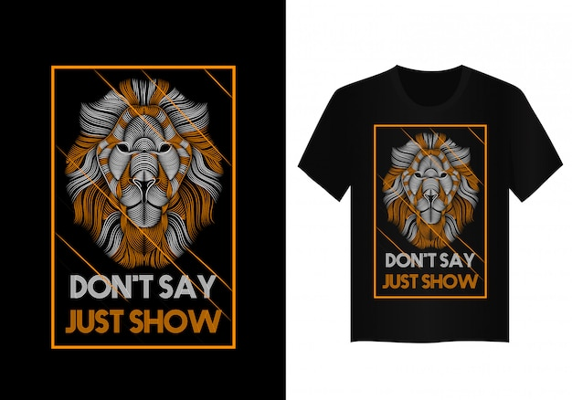 Tシャツデザインのライオンベクトルアート