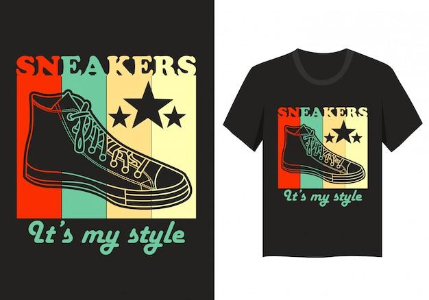 Tシャツのレタリングデザイン:私のスタイルをスニーカー