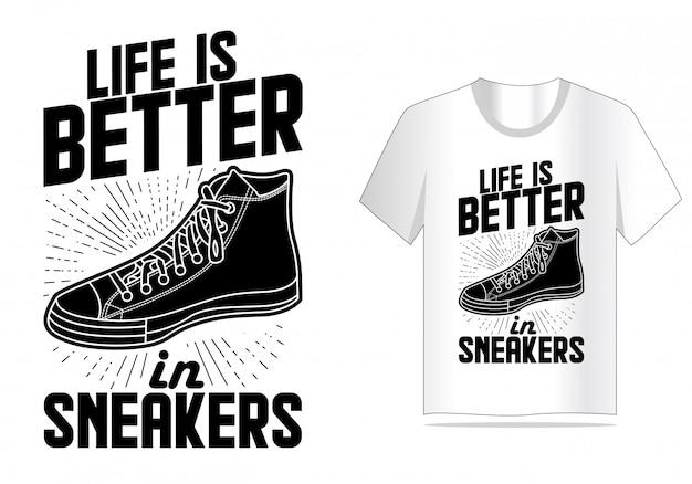 スニーカー引用タイポグラフィtシャツデザイン