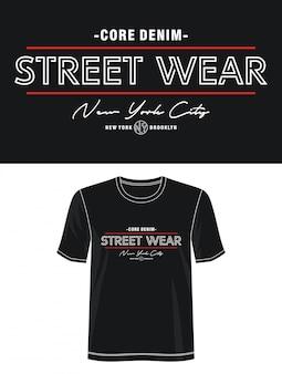 プリントtシャツのストリートウェアタイポグラフィ