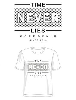 プリントtシャツのタイポグラフィは決してありません
