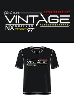 プリントtシャツのヴィンテージタイポグラフィ
