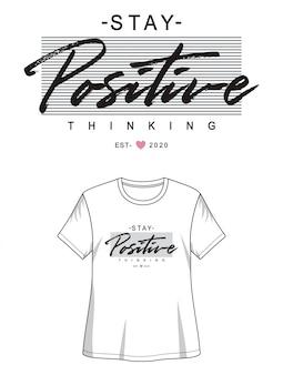 印刷tシャツの女の子のための肯定的なタイポグラフィ