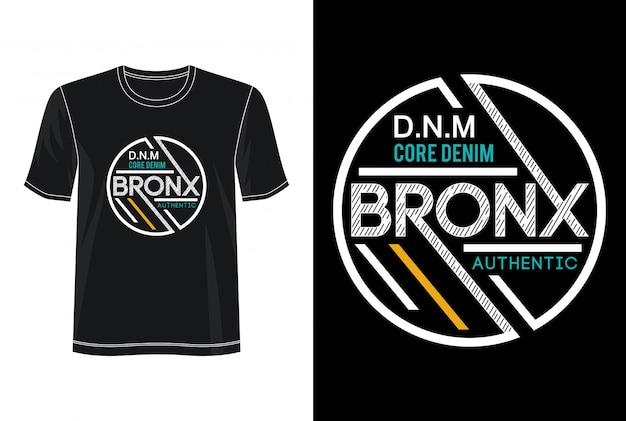 Tシャツのブロンクスタイポグラフィ