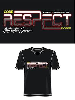 プリントtシャツのタイポグラフィを尊重する