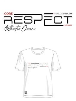 タイポグラフィデザインのtシャツを尊重
