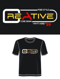 印刷tシャツの創造的なタイポグラフィ