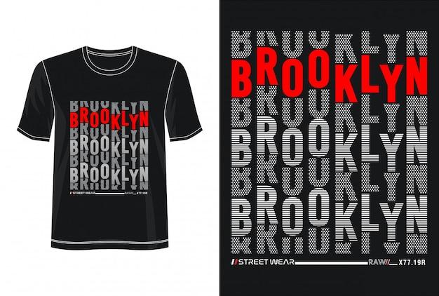 プリントtシャツのブルックリンタイポグラフィ