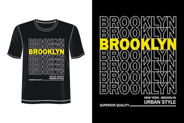 Tシャツのブルックリンタイポグラフィ